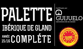 PALETTE IBÉRIQUE D.O.P.GUIJUELO ANNÉE 15/16 COMPLET