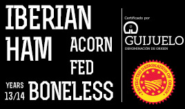 ACORN-FED IBERIAN HAM DOP GUIJUELO ADD 13/14 BONELESS