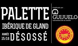 PALETTE IBERIQUE DE GLAND D.O.P.GUIJUELO ANNÉE 15/16 DÉSOSSÉ