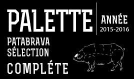 PALETTE PATABRAVA SÉLECTION COMPLET ANNÉE 15/16