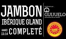 JAMBON IBÉRIQUE BELLOTA DOP GUIJUELO ANNÉE 13/14 ENTIER