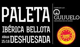 PALETA IBÉRICA BELLOTA D.O.P. GUIJUELO AÑADA 15/16 DESHUESADA