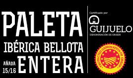 PALETA IBÉRICA BELLOTA D.O.P. GUIJUELO AÑADA 15/16 ENTERA